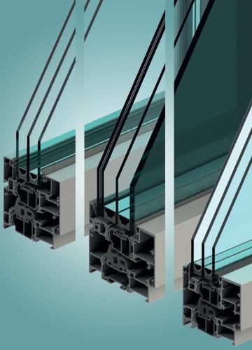 Sistemi per finestre e porte in alluminio